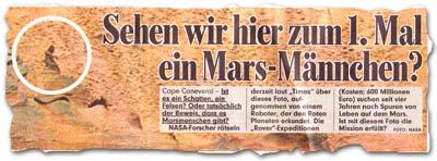 """""""Sehen wir hier zum 1. Mal ein Mars-Männchen?"""""""