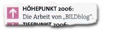 """Höhepunkt 2006: Die Arbeit von """"BILDblog"""""""