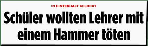 Screenshot Bild.de - In Hinterhalt gelockt - Schüler wollten Lehrer mit einem Hammer töten