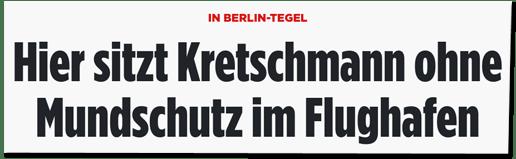 Screenshot Bild.de - In Berlin-Tegel - Hier sitzt Kretschmann ohne Mundschutz im Flughafen