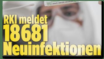 Screenshot Bild.de - RKI meldet 18681 Neuinfektionen