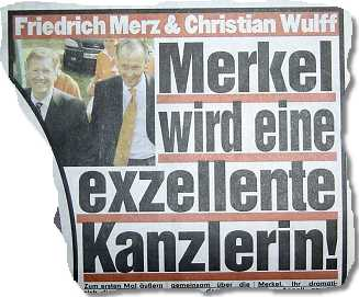 """Friedrich Merz & Christian Wulff: Merkel wird eine exzellente Kanzlerin!"""""""