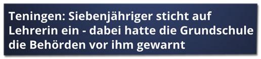 Screenshot RTL.de - Teningen: Siebenjähriger sticht auf Lehrerin ein - dabei hatte die Grundschule die Behörden vor ihm gewarnt
