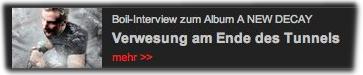 Boil-Interview zum Album A NEW DECAY: Verwesung am Ende des Tunnels