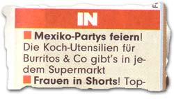 """""""Mexiko-Parties feiern! Die Koch-Utensilien für Burritos & Co gibt"""