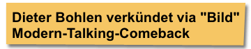 Screenshot derstandard.at - Dieter Bohlen verkündet via Bild Modern-Talking-Comeback