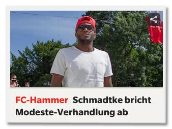 Ausriss express.de - FC-Hammer - Schmadtke bricht Modeste-Verhandlung ab