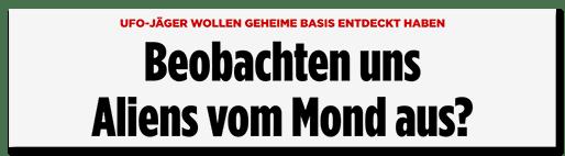 Screenshot BILD.de: Beobachten uns Aliens vom Mond aus?