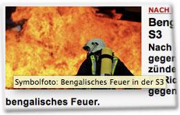 Symbolfoto: Bengalisches Feuer in S3.