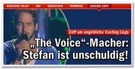 """Zoff um angebliche Casting-Lüge: """"The Voice""""-Macher: Stefan ist unschuldig!"""