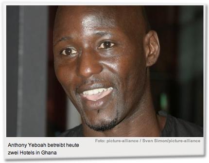 Anthony Yeboah betreibt heute zwei Hotels in Ghana