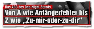 """""""Das ABC des One Night Stands: Von A wie Anfängerfehler bis Z wie Zu-mir-oder-zu-dir"""""""