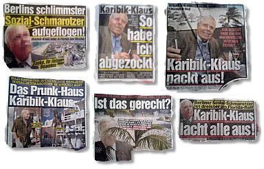 Ausriss Bild-Zeitung - Berlins schlimmster Sozial-Schmarotzer aufgeflogen