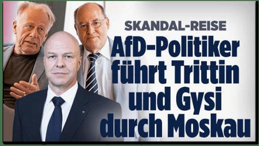 Screenshot Bild.de - Skandal-Reise - AfD-Politiker führt Trittin und Gysi durch Moskau