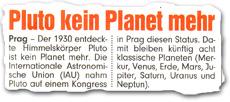 """""""Pluto kein Planet mehr"""""""