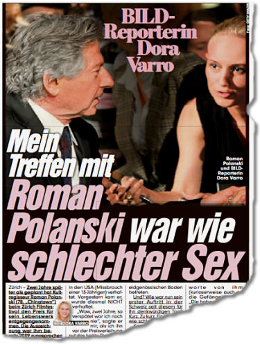 Mein Treffen mit Roman Polanski war wie schlechter Sex