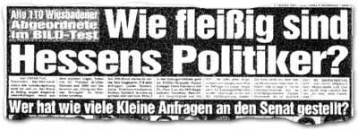 """Wie fleißig sind Hessens Politiker?"""