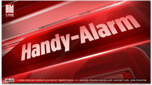 Screenshot Bild-TV - Handy-Alarm