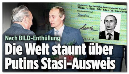 Screenshot Bild.de - Nach Bild-Enthüllung - Die Welt staunt über Putins Stasi-Ausweis