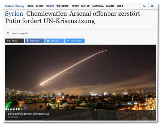 Screenshot Berliner-Zeitung.de, der die Verwendung des Fotos zeigt