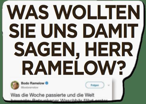 Ausriss Bild-Zeitung - Was wollten Sie uns damit sagen, Herr Ramelow?
