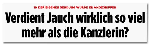 Screenshot Bild.de - In der eigenen Sendung wurde er angegriffen - Verdient Jauch wirklich so viel mehr als die Kanzlerin?
