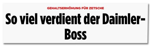 Screenshot Bild.de - Gehaltserhöhung für Zetsche - So viel verdient der Daimler-Boss