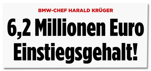 Screenshot Bild.de - BMW-Chef Harald Krüger - 6,2 Millionen Euro Einstiegsgehalt!