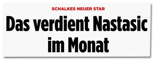 Screenshot Bild.de - Schalkes neuer Star - Das verdient Nastasic im Monat