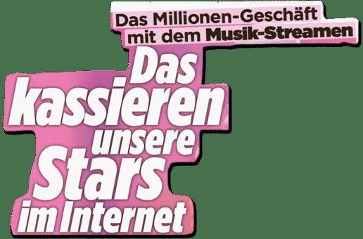Ausriss Bild-Zeitung - Das Millionen-Geschäft mit dem Musik-Streamen