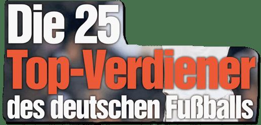 Ausriss Bild-Zeitung - Die 25 Top-Verdiener des deutschen Fußballs