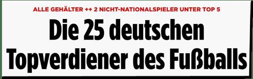Screenshot Bild.de - Alle Gehälter - Zwei Nicht-Nationalspieler unter Top Fünf - Die 25 Topverdiener des Fußballs