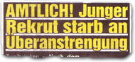 """Amtlich! Junger Rekrut starb an Überanstrengung"""