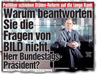 Warum beantworten Sie die Fragen von BILD nicht, Herr Bundestagspräsident?