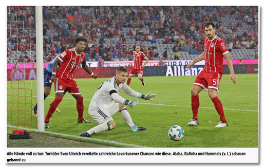 Screenshot Bild.de - Foto, das Franck Ribéry zwischen David Alaba und Mats Hummels zeigt