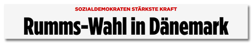 Rumss-Wahl in Dänemark