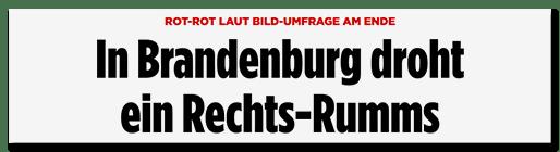 In Brandenburg droht ein Rechts-Rumms