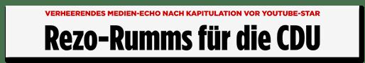 Rezo-Rumms für die CDU