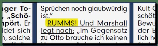 Textauszug: RUMMS!