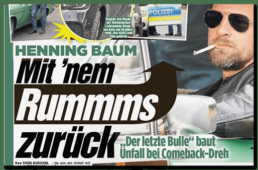 Schlagzeile: Henning Baum - Mit nem Rummms zurück