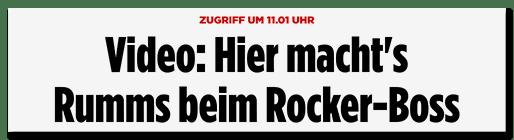 Schlagzeile: Video: hier macht es Rumms beim Rocker-Boss