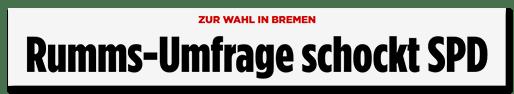 Rumms-Umfrage schockt SPD