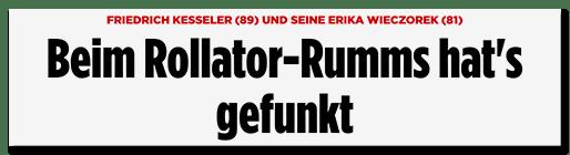 Schlagzeile: Beim Rollator-Rumms hat es gefunkt