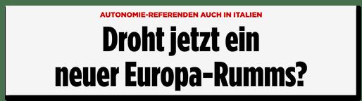 Droht jetzt ein neuer Europa-Rumms?