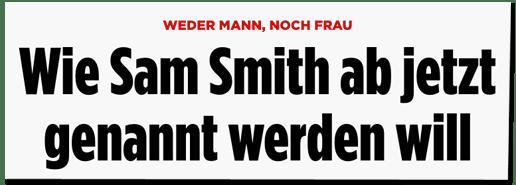 Screenshot Bild.de - Weder Mann, noch Frau - Wie Sam Smith ab jetzt genannt werden will