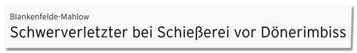 Screenshot rbb24.de - Schwerverletzter bei Schießerei vor Dönerimbiss