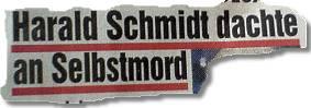 Harald Schmidt dachte an Selbstmord