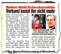 """""""Reiter-Held Schockemöhle: Verband kennt ihn nicht mehr"""""""