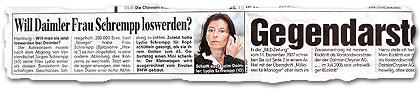 """""""Will Daimler Frau Schrempp loswerden?"""""""