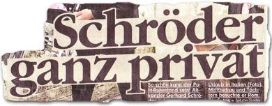 """""""Schröder ganz privat"""""""